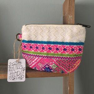 Free people clutch bohemian zip pouch wallet